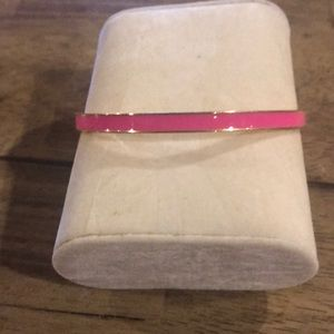 Kate Spade Hot to Trot Idiom Gold and Pink Bangle